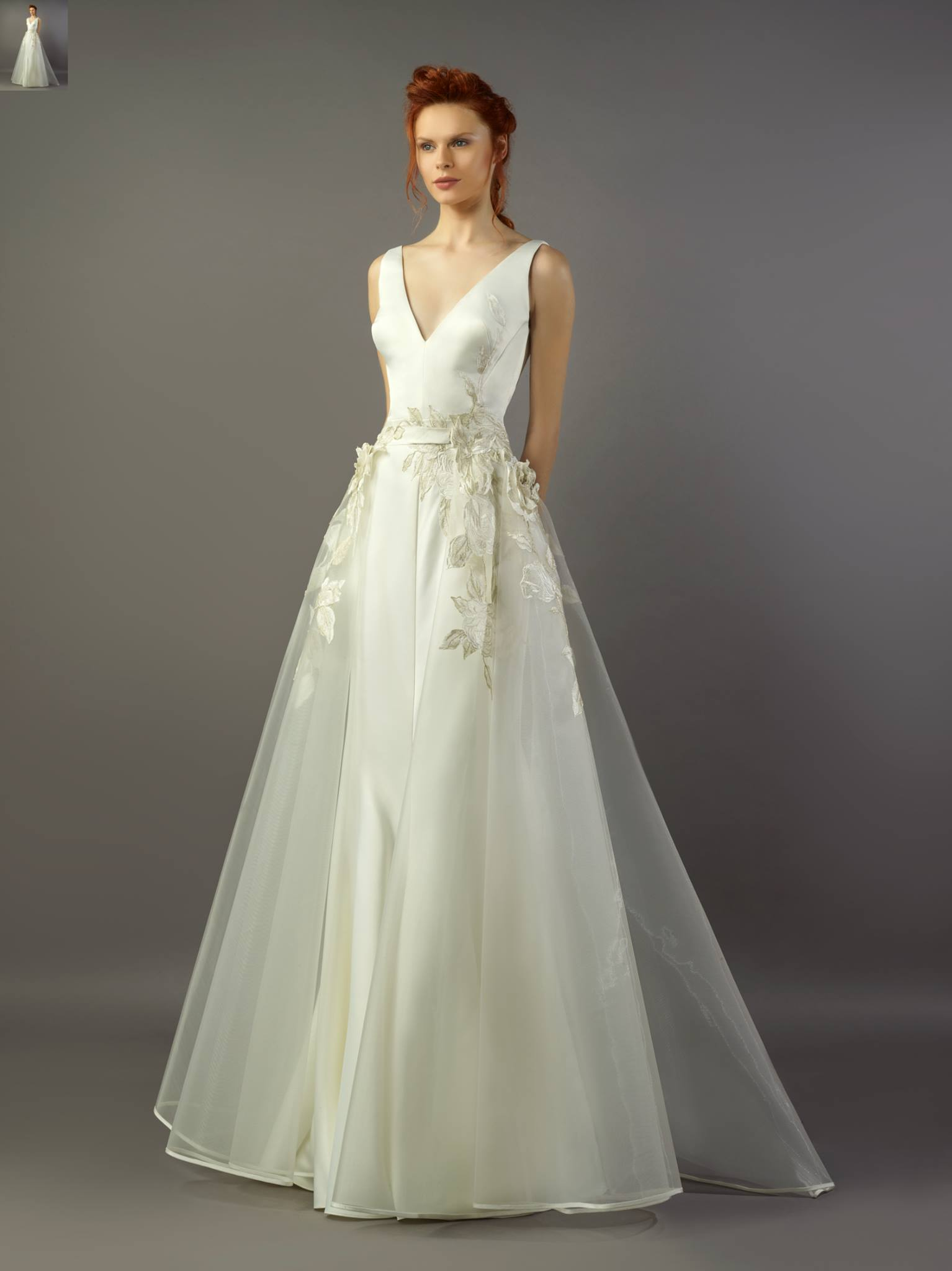 Gemy Maalouf IV 1197 Ivory Gown