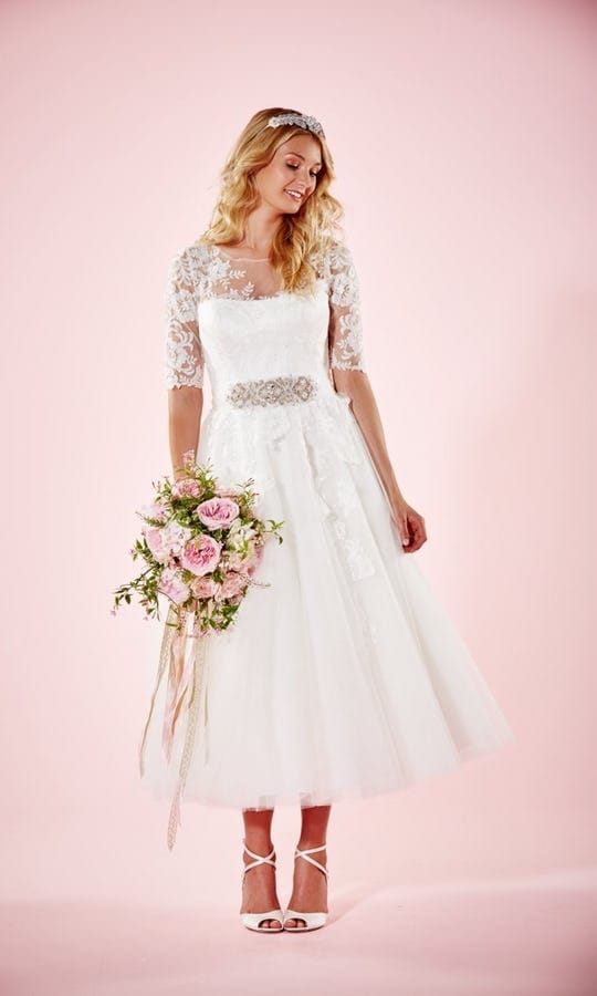 Charlotte Balbier Marie Tea Length Wedding Dress