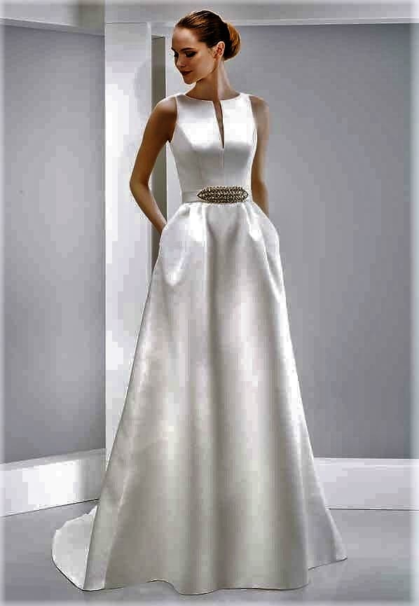 Jesus Peiro Martina Satin A line gown