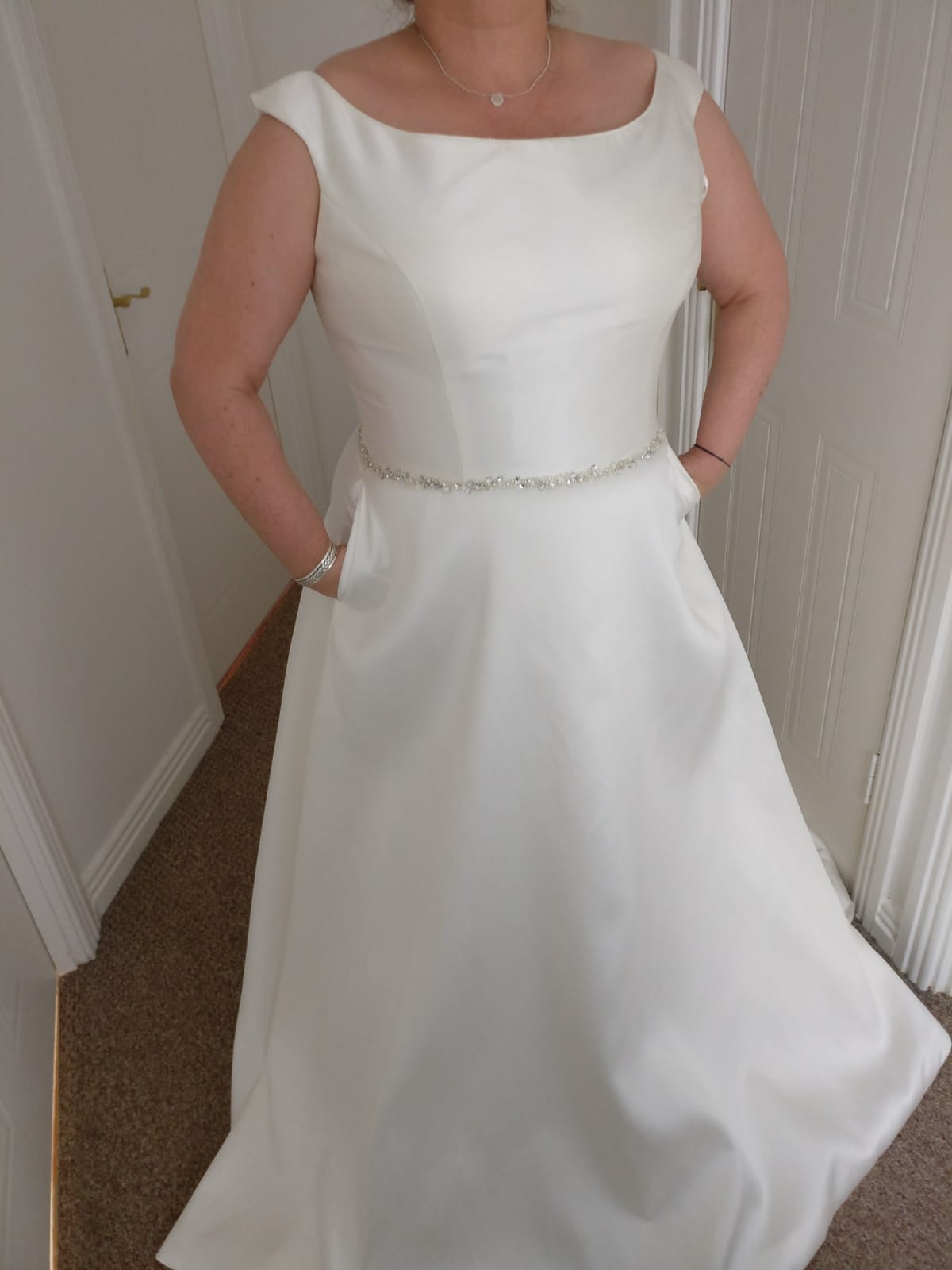 White Rose Plus Size Gown
