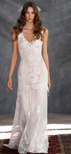 Claire Pettibone – Gardenia Ivory Lace Bridal Gown
