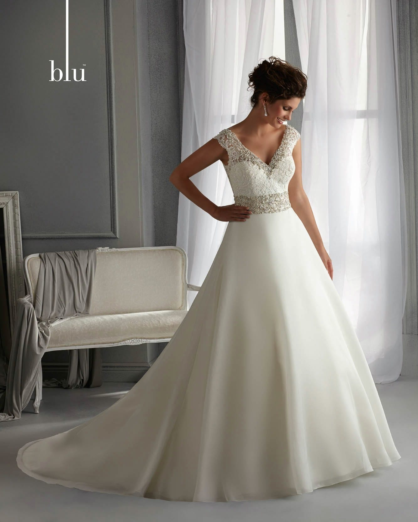 Mori Lee Wedding Gowns: Lace Back Ballgown Dress