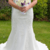Justin Alexander 4002 V Neck Fit & Flare Wedding Dress