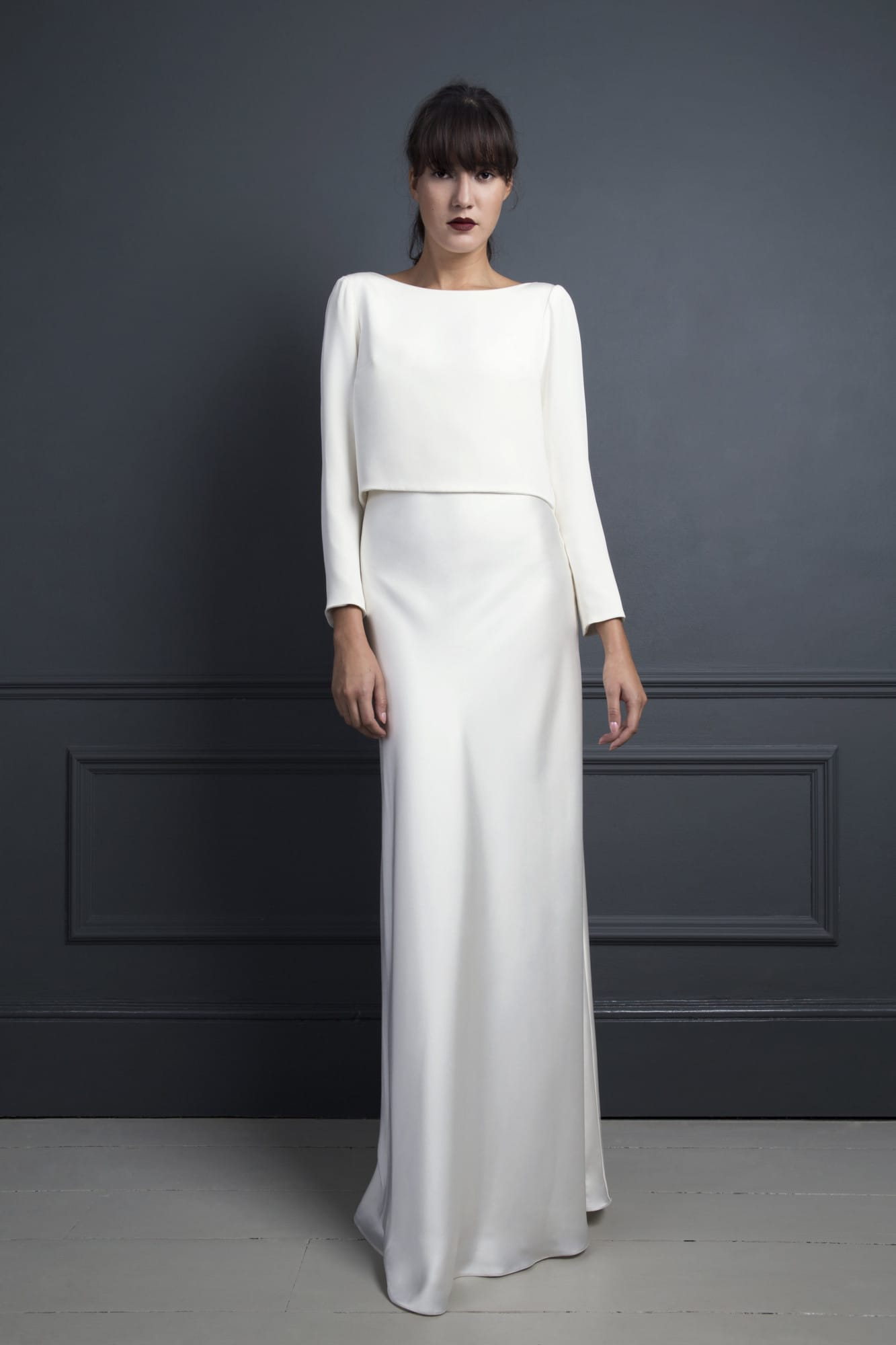 "Halfpenny London ""Iris"" Slip dress with Laura drape top"
