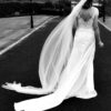 Le Papillon by Modeca Blue Wedding Dress