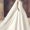 Avenue Diagonal Genet – Classic Elegant Ivory Ballgown Style Wedding Dress
