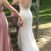 Maggie Sottero Miela – Spaghetti straps, beaded, backless fitted dress with cathedral veil