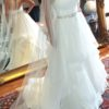 Fairytale Mikaella Bridal 2164 Gown with sweetheart neckline and mesh tulle skirt
