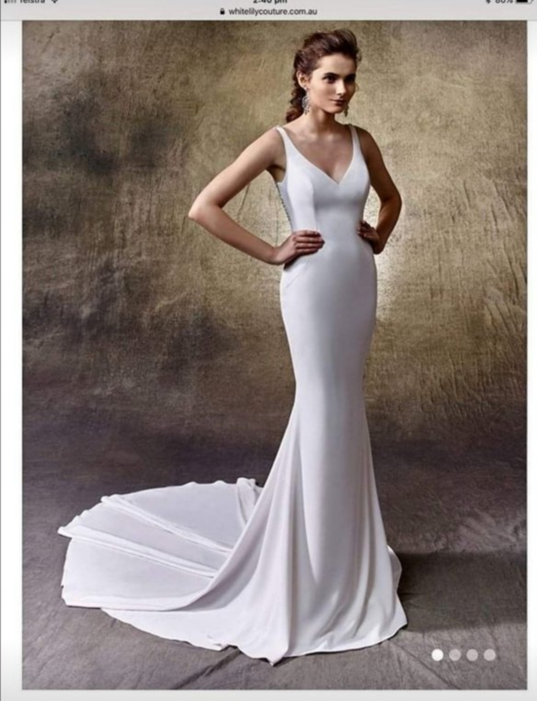 Enzoani Lacy Wedding Dress includes Veil and Accessories