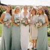 True Bride M596 Sea Mist Bridesmaid Dresses