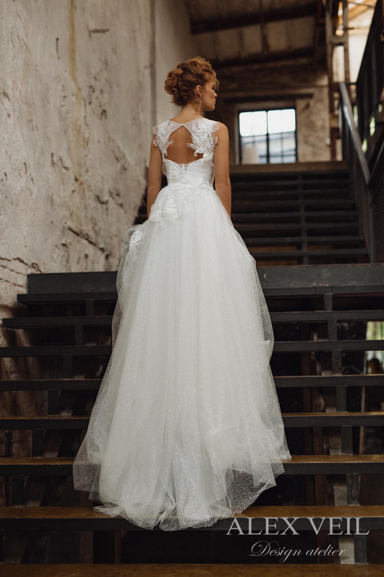 Alex Veil Bridal Eshli Wedding Dress – Brand New & Never Worn