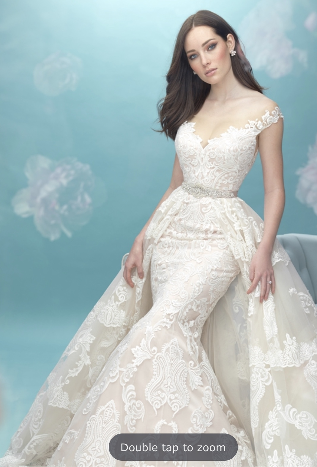 Allure Bridal Wedding Dress with Overskirt