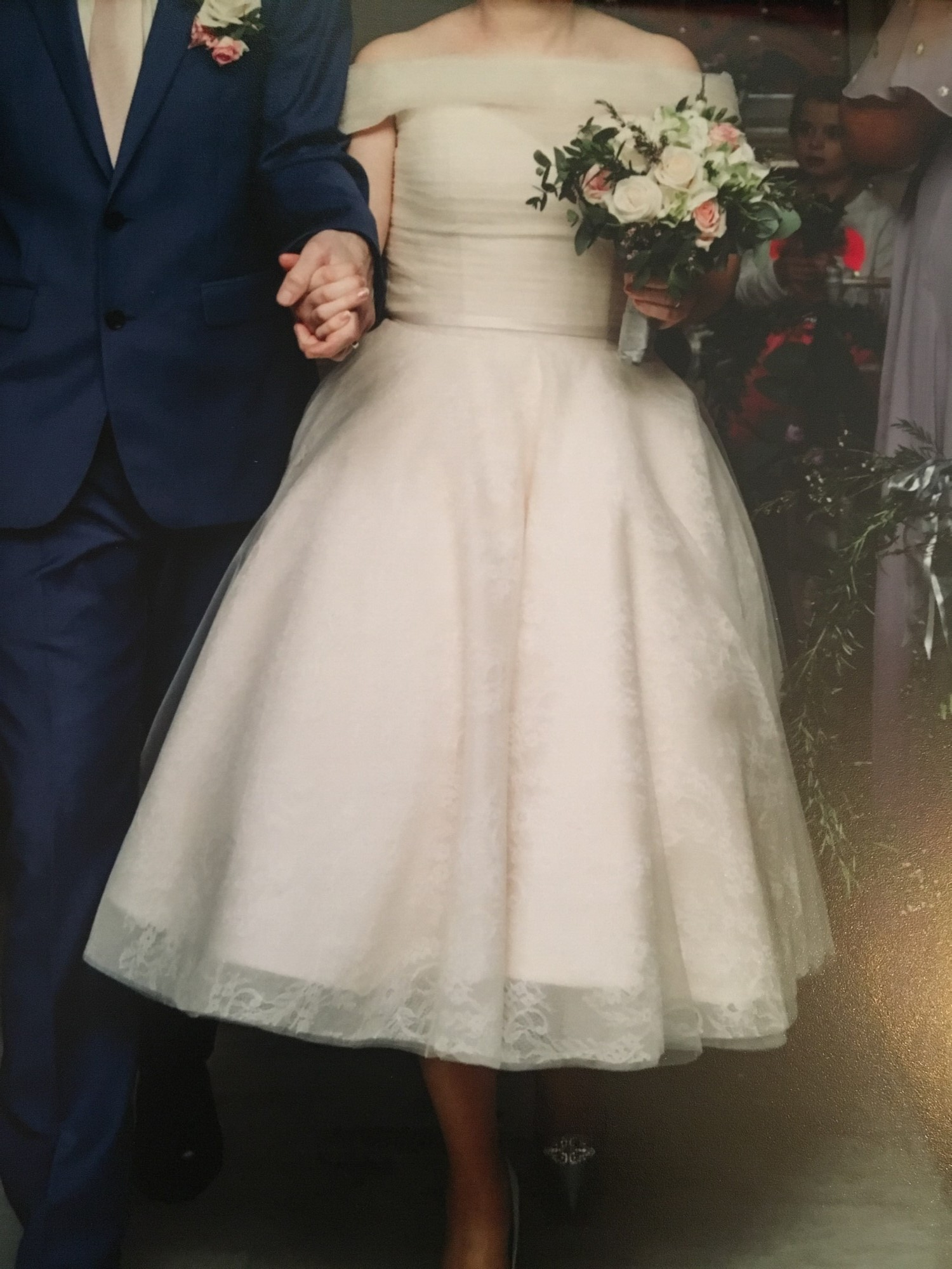 House of Mooshki Vintage Inspired Tea Length Wedding Dress