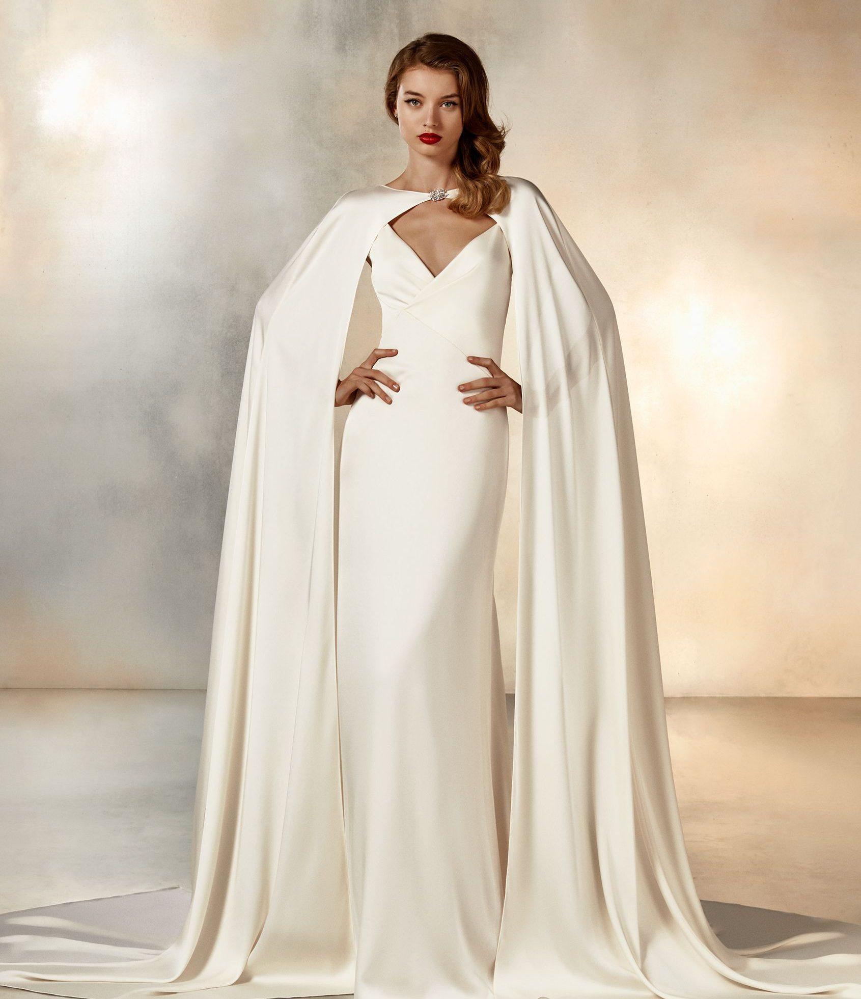 Pronovias Moonlight Wedding Dress & Cape