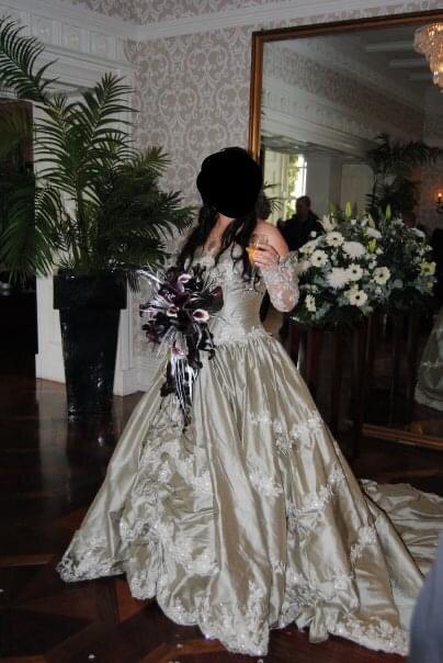Ian Stuart Stunning Victorian Style Wedding  Gown