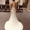 High Neck Crepe White by Vera Wang