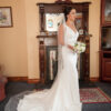 Paloma Blanca 4714 Satin Fit & Flare Wedding Dress