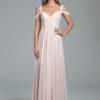 Hayley Paige 5801 Blush Chiffon Bridesmaid Dress