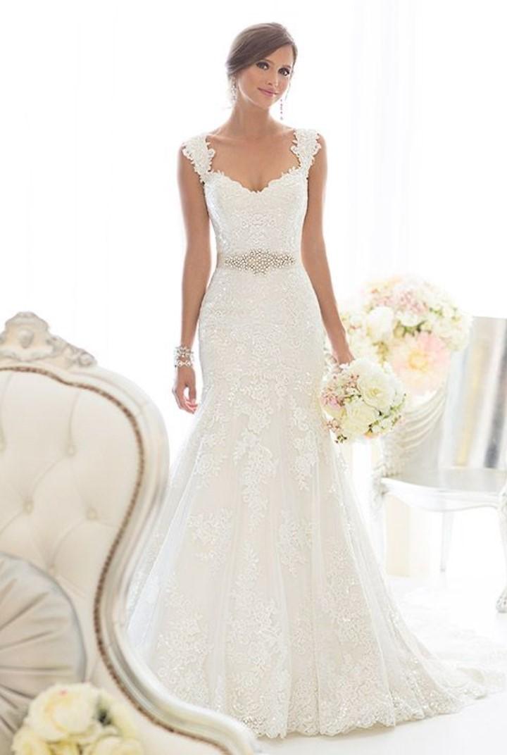 Essense of Australia Fit & Flare lace wedding dress