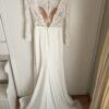 Stella York 6817 Ivory Long Sleeve Crepe Dress