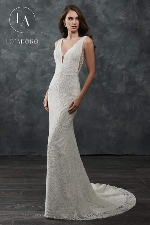 Rachel Allan Beaded Wedding Dress
