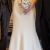 Cabotine Crepe Fitted Wedding Dress